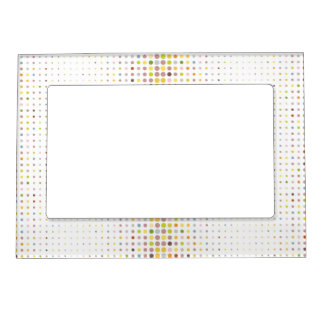 Multicolored dot background photo frame magnet