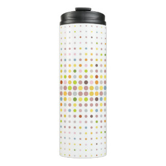 Multicolored dot background thermal tumbler