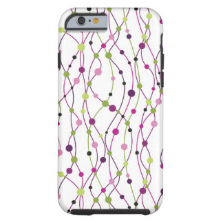 Multicolored dot background tough iPhone 6 case