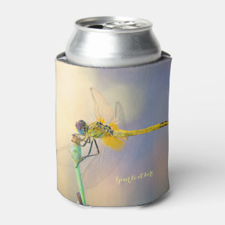 Multicolored Dragonfly Can Cooler