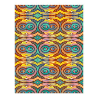 Multicolored Elegant Geometric   Design 21.5 Cm X 28 Cm Flyer