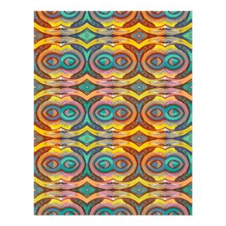 Multicolored Elegant Geometric   Design 21.5 Cm X 28 Cm Flyer