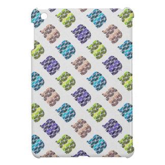 Multicolored  Elephants Pattern. Artistic Design Cover For The iPad Mini