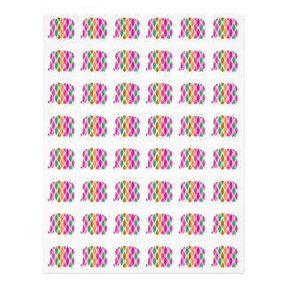 Multicolored Elephants Pattern. Elegant Design Personalized Flyer