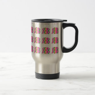 Multicolored Elephants Pattern. Elegant Design Mugs