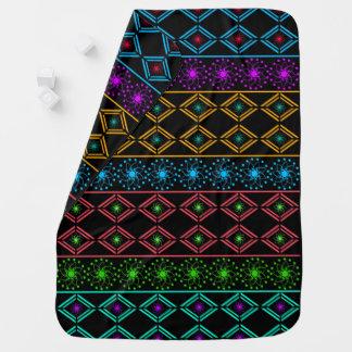 Multicolored examined pramblanket