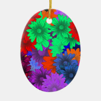 Multicolored floral christmas ornament