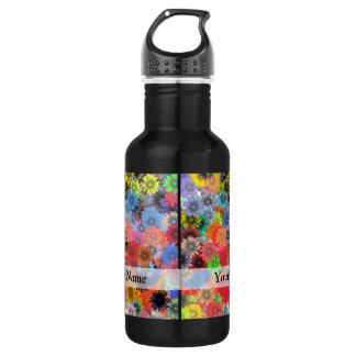 Multicolored floral pattern 532 ml water bottle