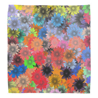 Multicolored floral pattern bandannas