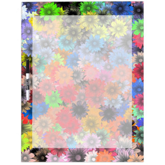 Multicolored floral pattern dry erase board