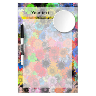 Multicolored floral pattern Dry-Erase whiteboards