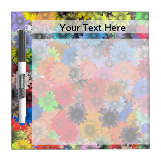 Multicolored floral pattern Dry-Erase board