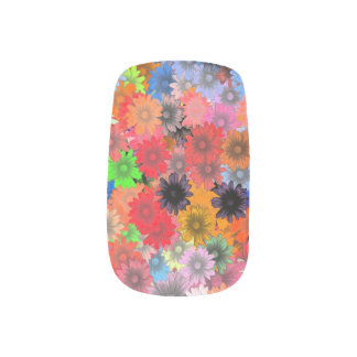 Multicolored floral pattern minx ® nail wraps