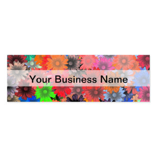 Multicolored floral pattern pack of skinny business cards
