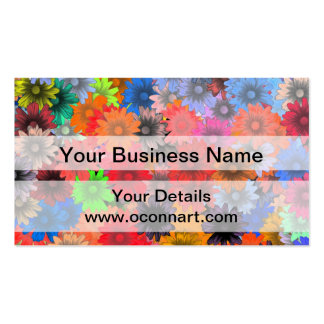 Multicolored floral pattern pack of standard business cards