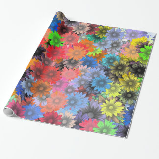 Multicolored floral pattern wrapping paper