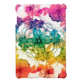 Multicolored Floral Swirls Decorative Design Cover For The iPad Mini