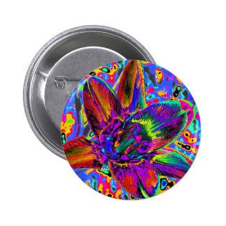 Multicolored flower button