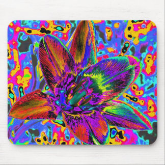 Multicolored flower mouse pads