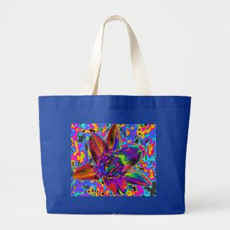 Multicolored flower jumbo tote bag