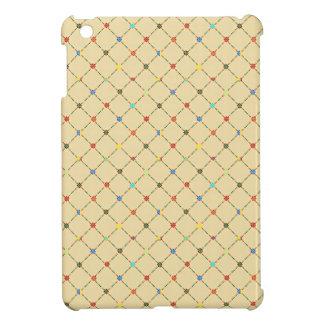 Multicolored Flowers And Square. Geometric Pattern iPad Mini Cover