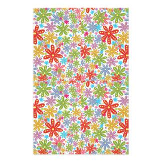 Multicolored Flowers Design Floral Pattern Flyer Design