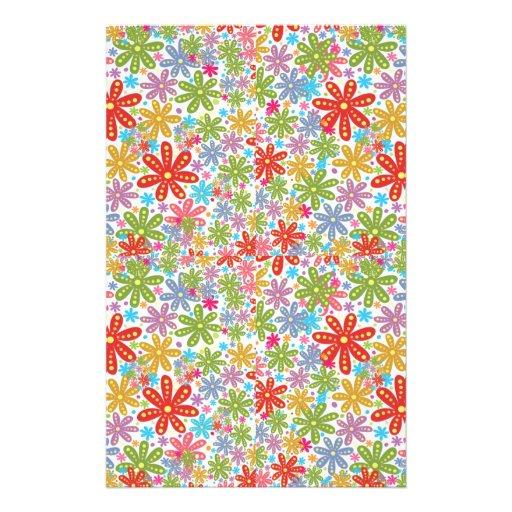 Multicolored Flowers Design. Floral Pattern Flyer Design
