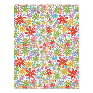 Multicolored Flowers Design. Floral Pattern Flyer Design