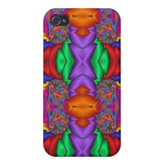 Multicolored fractal pattern cover for iPhone 4