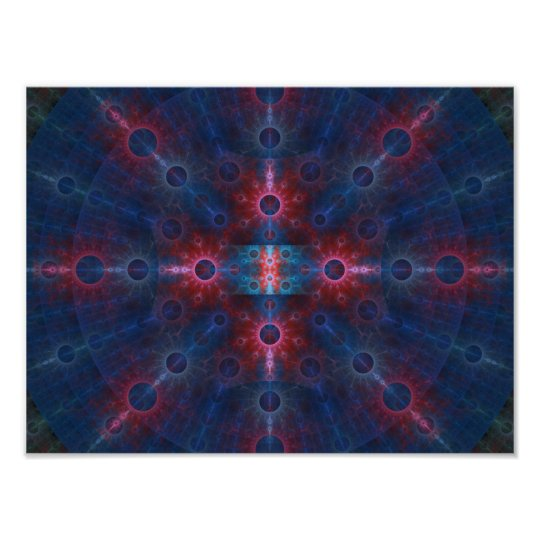 Multicolored Fractal Wall Art