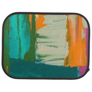 Multicolored Free Expression Painting Car Mat