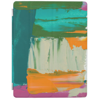 Multicolored Free Expression Painting iPad Cover