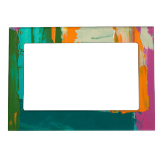 Multicolored Free Expression Painting Magnetic Picture Frame