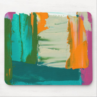Multicolored Free Expression Painting Mouse Mat