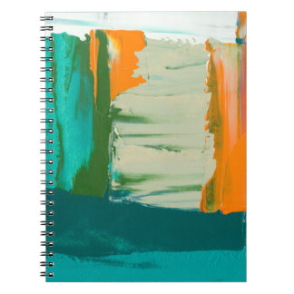 Multicolored Free Expression Painting Spiral Note Books