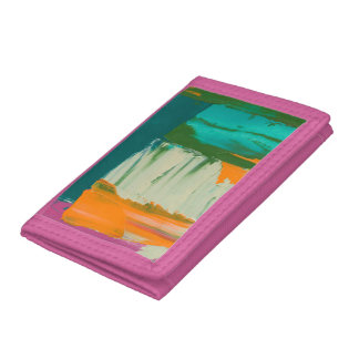 Multicolored Free Expression Painting Trifold Wallet