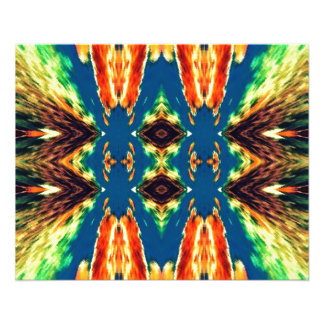 "Multicolored Geometric Abstract Design 4.5"" X 5.6"" Flyer"