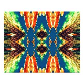 Multicolored Geometric Abstract Design 11.5 Cm X 14 Cm Flyer