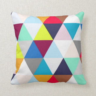 Multicolored Geometric Pattern Cushion