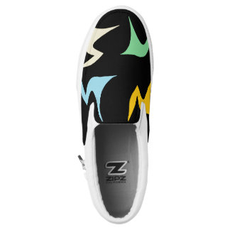 Multicolored Geometric Print Printed Shoes