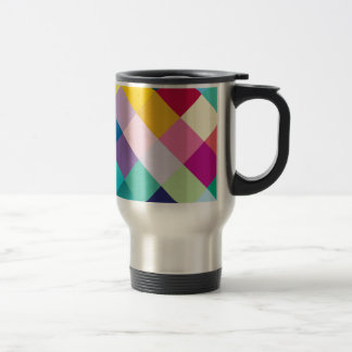 Multicolored Geometric Stainless Steel Travel Mug
