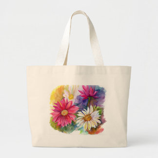 Multicolored Gerbera Daisies Large Tote Bag