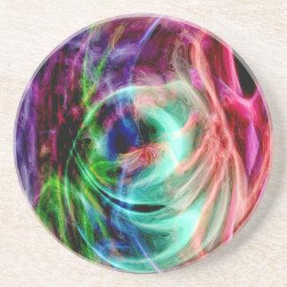 Multicolored Glow Coaster