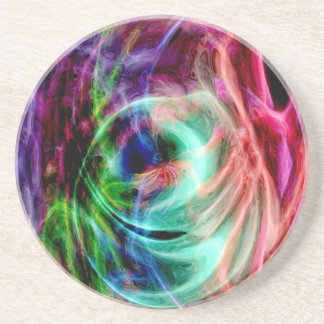 Multicolored Glow Drink Coasters