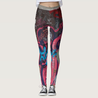 Multicolored Graffiti Leggings