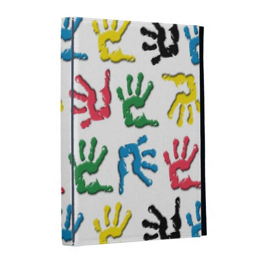 Multicolored handprints pattern iPad cases