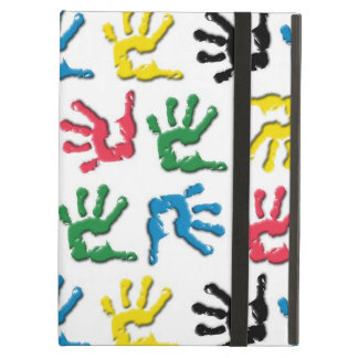 Multicolored handprints pattern iPad air cover