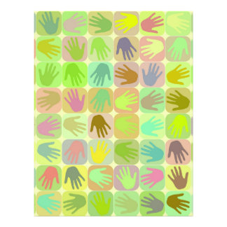 Multicolored hands pattern 21.5 cm x 28 cm flyer