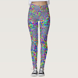 Multicolored Heart Mosaic Leggings