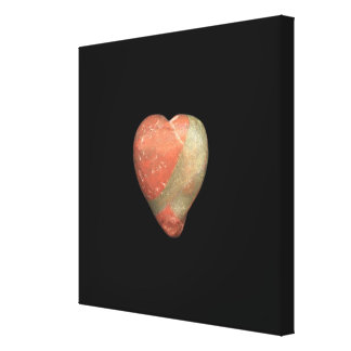 Multicolored Heart-Shaped Stone Canvas Print